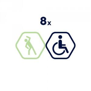 8x abonements Vingruma zālē | cilvēkiem ar invaliditāti.