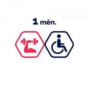 Spēka zāles abonements 1 mēnesim | cilvēkiem ar invaliditāti