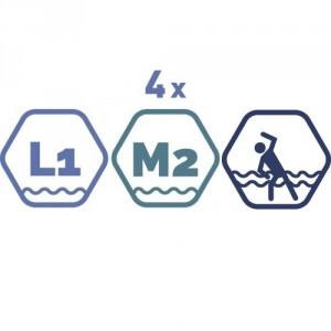 4 grupas nodarbības peldbaseinos. 45 minūšu nodarbība