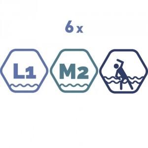 6 grupas nodarbības peldbaseinos. 45 minūšu nodarbība