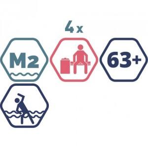 4 grupas nodarbības peldbaseinos senioriem. 45 minūšu nodarbība + Atpūtas zona