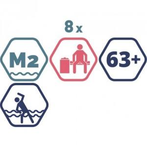 8 grupas nodarbības peldbaseinos senioriem. 45 minūšu nodarbība + Atpūtas zona