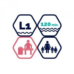 2h peldbaseina apmeklējums | BD pieaugušais + 3 bērni