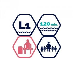 2h peldbaseina apmeklējums | BD pieaugušais + 4 bērni