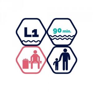1,5h peldbaseina apmeklējums | pieaugušais + bērns līdz 11 gadiem