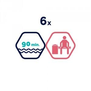 6x peldbaseinu apmeklējums | 90 min.