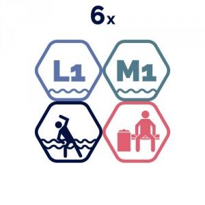 6 grupas nodarbības peldbaseinos.
