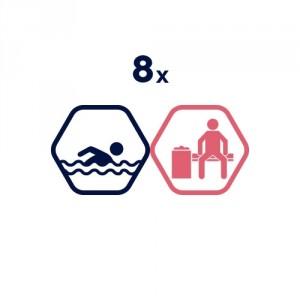 8 peldētapmācības nodarbības pieaugušajiem
