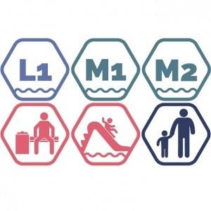 Lielais + Mazie peldbaseini + Atpūtas zona + Rotaļupe: 1 pieaugušais + 1 bērns | VASARA