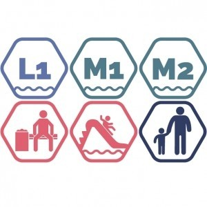 Lielais + Mazie peldbaseini + Atpūtas zona + Rotaļupe: 1 pieaugušais + 1 bērns | Vasaras akcija
