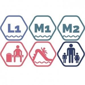 Lielais + Mazie peldbaseini + Atpūtas zona + Rotaļupe: 1 pieaugušais + 2 bērni | VASARA