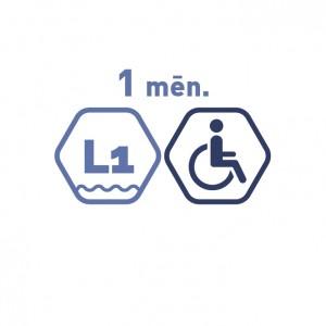 Lielā peldbaseina abonements 1 mēnesim cilvēkiem ar invaliditāti. Ierobežotā laikā