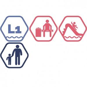 Lielais peldbaseins + Atpūtas zona + Rotaļupe: 1 pieaugušais + 1 bērns | DD