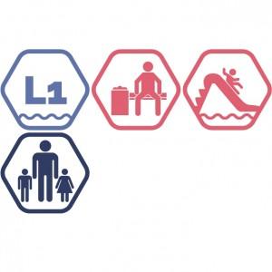 Lielais peldbaseins + Atpūtas zona + Rotaļupe: 1 pieaugušais + 2 bērni | DD