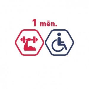 Spēka zāles abonements 1 mēnesim cilvēkiem ar invaliditāti