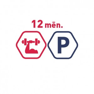 Spēka zāles abonements 12 mēnešiem mēnešiem + bezmaksas auto stāvvieta. Ierobežotā laikā