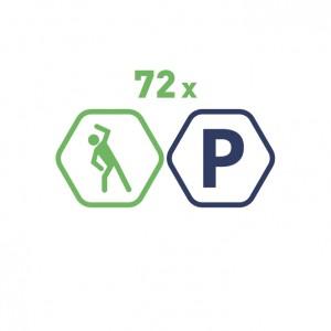 72 grupas nodarbības Vingruma zālē mēnešiem + bezmaksas auto stāvvieta. 60 minūšu nodarbība