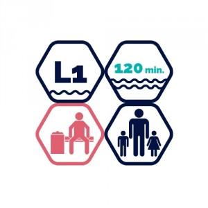 Pool entry, 1.5h | adult + 2 children under 12y